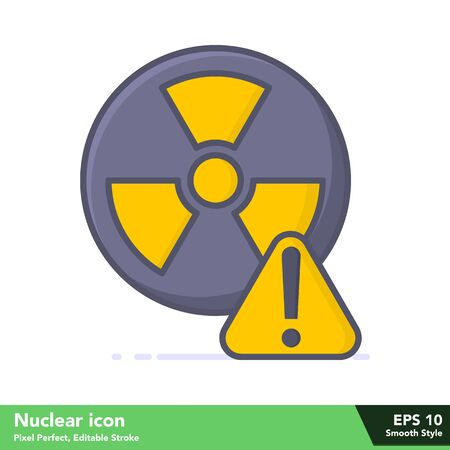 Nuclear icon in smooth style, with pixel perfect and editable stroke