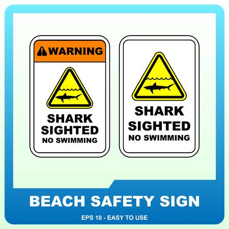 Beach safety sign to guide visitor