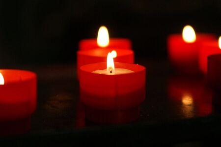 ligh: Candles in a church