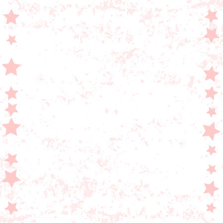 White background with pink texture and frame of stars for decoration, poster, banner, design, text, advert, wedding, valentines day, valentine, holiday, mothers day