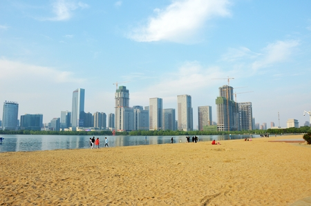 lake beach: Tianhe Lake beach