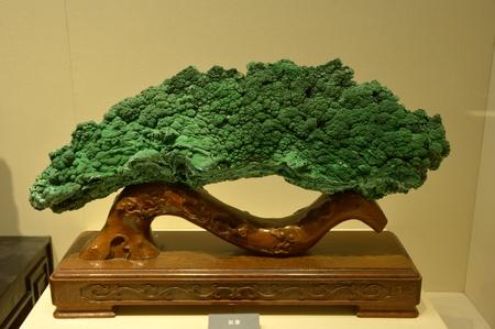 malachite: Malachite carving of Ruyi Editorial