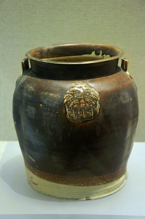 kiln: Changsha kiln the glaze sauce with Four tank decals