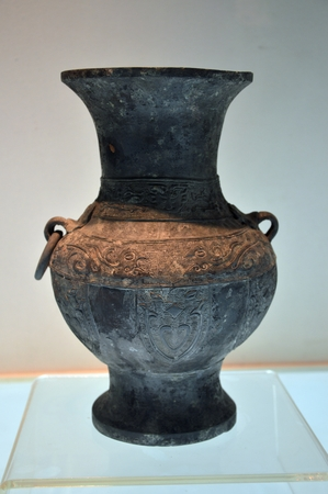 Qing Dynasty antique copper pot