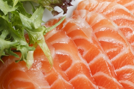 dog salmon: pieces are more fresh red fish