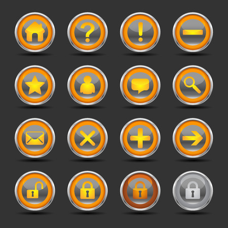 Shiny icons for web, presentations or computer applications. Three background variations included.