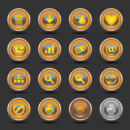 Shiny icons for web, presentations or computer applications. Three icon color variations included.