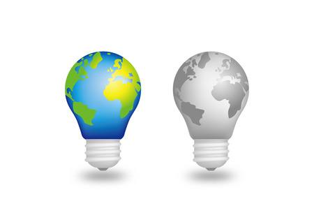 Earth light bulb - Green energy light - lamps