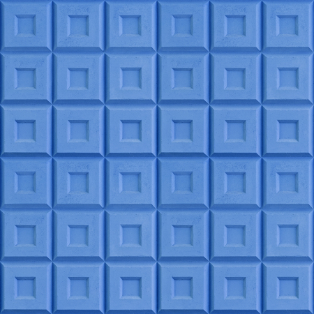 Seamless texture from squares. Abstract texture of blue painted concrete fence. Фото со стока