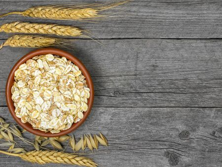 Cereal Flakes Spikelets of different types of grain.