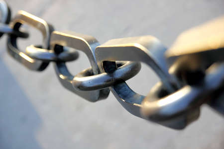 Giant chain from battleship anchor.