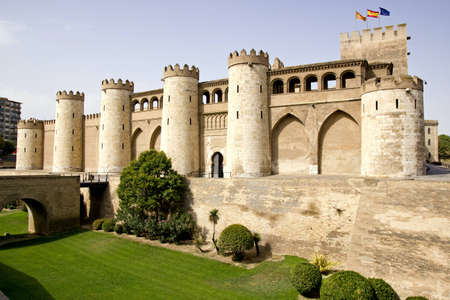 mudejar: The Aljaferia Palace is a fortified palace built during the second half of the eleventh century in Zaragoza  Spain   Islamic