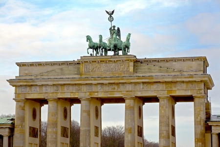 brandenburg gate: Brandenburg Gate, Berlin, Germany. Stock Photo