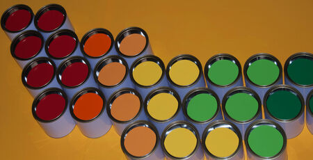 decoraton: colorful paint cans for decoraton or background