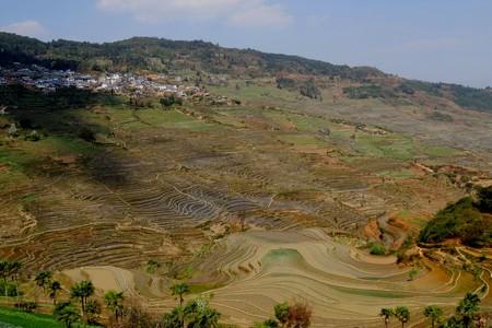 Honghe County, Le Yu Xiang Guidong terrace 版權商用圖片 - 97110502