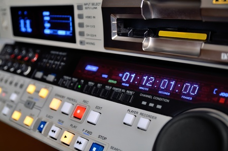 Professional video recorder. Control panel