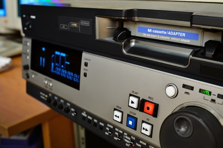 Video production studio  Professional digital videocassette recorder