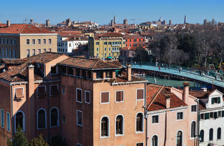 Venice, Italy  City view from the top  Stock Photo