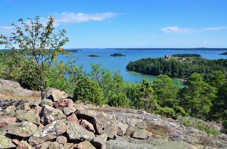 Summer scandinavian landscape  Aland islands