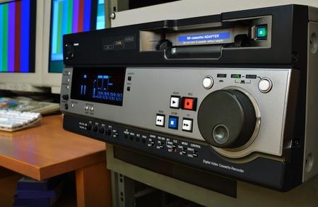 videocassette: Grabadora de cinta de vídeo digital, profesional en el estudio de producción de vídeo, el formato DVCPRO