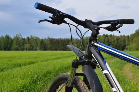 mountain bike handlebar photo