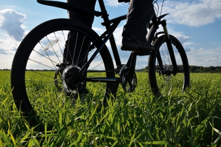 mountain bike in countryside photo