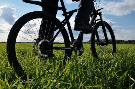 mountain bike in countryside