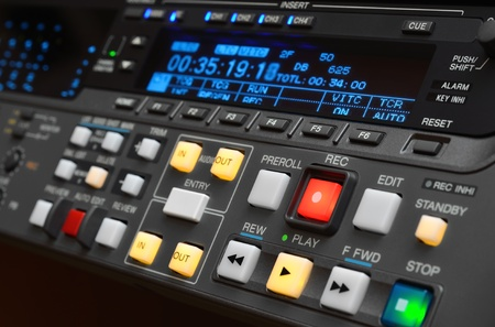 Professional video recorder (digital betacam format), shallow depth of field.