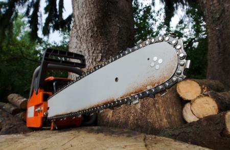 chainsaw  Reklamní fotografie