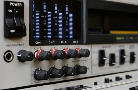 Professional video recorder Betacam SP. Control panel. Stock Photo