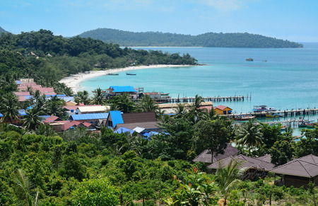 view of Koh Rong, tropical Island near Sihanoukville, Gulf of Thailand, Cambodia 版權商用圖片