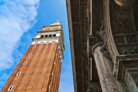 bell tower: Admiring the famous bell tower in St. Mark