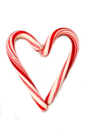 Candycane heart against a white background Stock Photo - 11097033