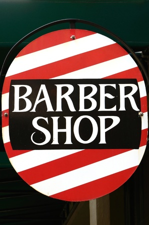 Interesting Barber Shop sign in a downtown area Stock Photo - 11740599