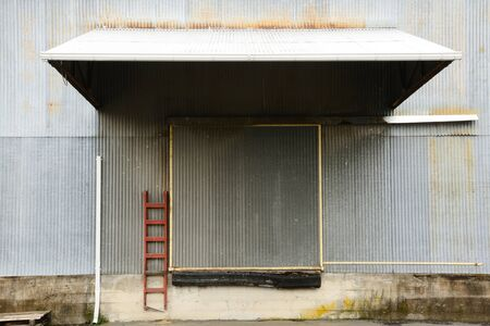 Loading dock door of a seed storage warehouse near Salem Oregon photo