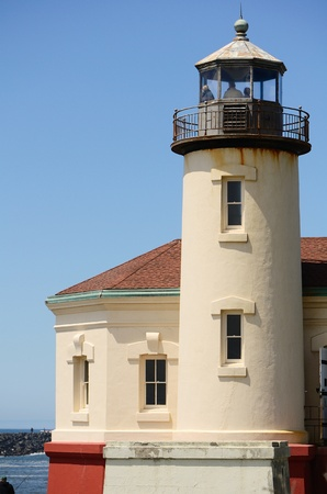 coquille: Coquille River Lighthouse near Bandon Oregon