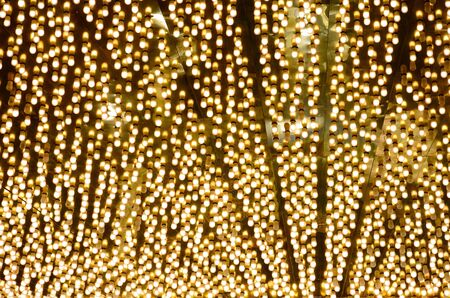 Large collection of small bulbs outside a Casino entrance Stock Photo
