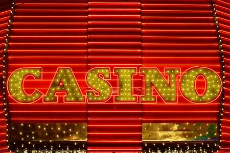 Casino neon side in a popular gambling area