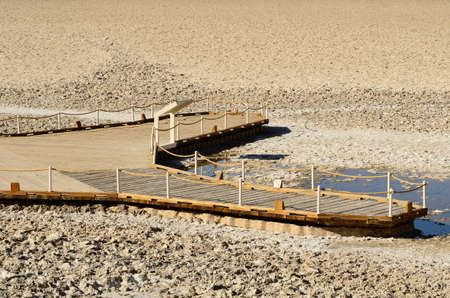 Badwater Basin in Death Valley National Park California Stok Fotoğraf