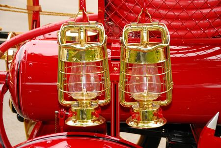 Details of an old chemical fire engine Stock Photo - 13635898