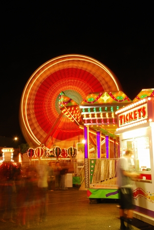 midway: part of the midway at the 2009 Douglas County Fair in Roseburg Oregon at night.