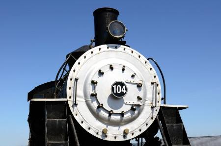 The front of an old railroad locomotive Stock Photo - 13931688