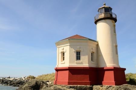 coquille: Coquille River Lighthouse, 1896, sulla costa meridionale vicino a Oregon Bandon Archivio Fotografico