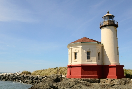 coquille: Coquille River Lighthouse, 1896, on the southern Oregon coast near Bandon