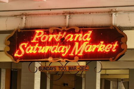 Portland Oregon Saturday Market, a arts and craft fair held each weekend in the downtown area Фото со стока - 14277930