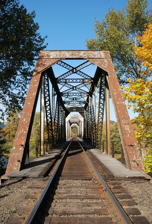 Southern Pacific Railroad Bridge at Winchester OR Stock Photo - 14734394