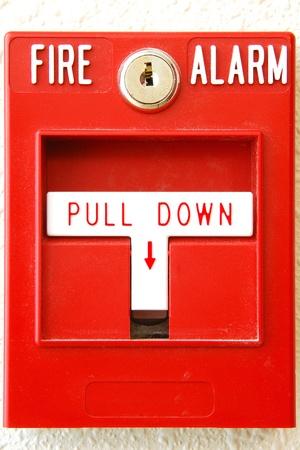 palanca: Manual tirar estaci�n en el sistema de alarma de incendio en el Centro de Seguridad P�blica de nuevo en Roseburg Oregon