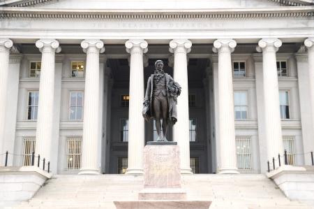 alexander hamilton: Il Dipartimento del Tesoro di Washington DC