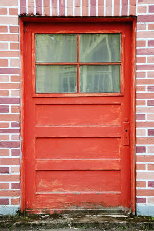 Red Door and Brick  Alley b downtown Roseburg Oregon photo