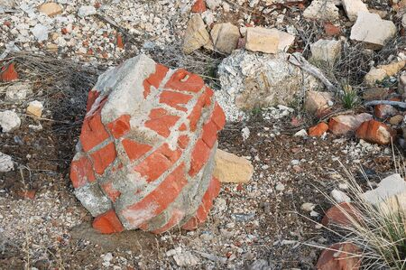 Brick form at Old mill site, Burns   Hines Oregon Stock Photo - 17435137
